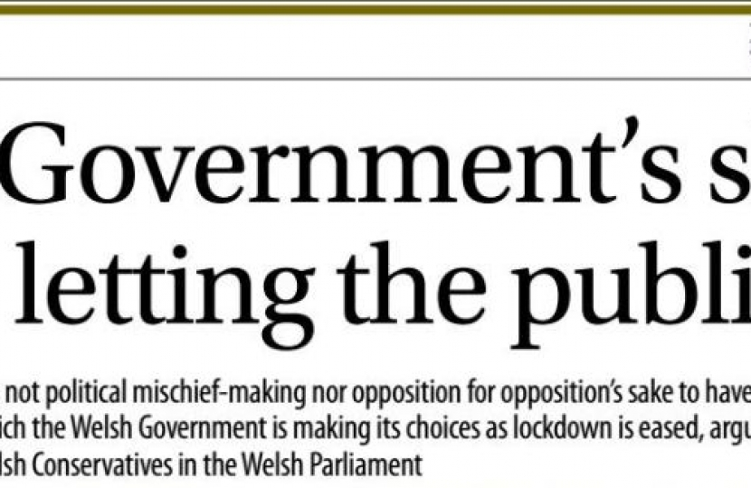 Western Mail 26th June 2020