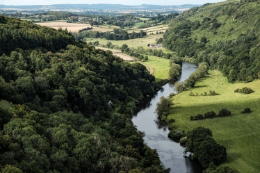 A view of the River Wye.